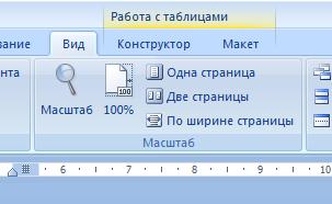 Инструмент изменения масштаба в MS Word