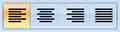 MS Word кнопки выравнивания текста